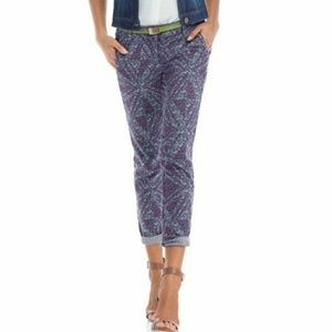 CAbi#806 Play Day Palm Beach Cropped Ankle Skinnys